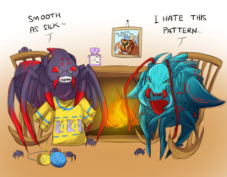 Dota2 Responses Week -  Day 2 - Sweater for Weaver by keterok