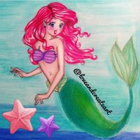 Ariel the Mermaid by loveandcreateart