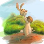 #44 Daily Paint - Rabbit by Fefss