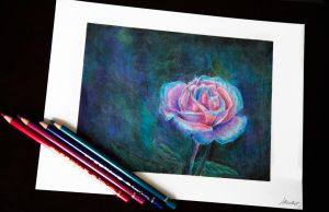 Colored Pencil::Beneath my Thorns by SilverSummerSong