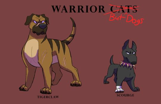 Tigerclaw And Scourge: Warrior cats but dogs by shadythebluewolf