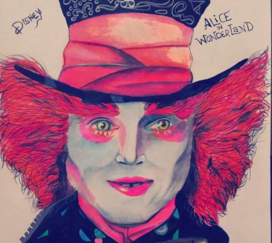 Mad Hatter Drawing by knightdevil18