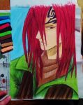 Renji from Bleach pastel finished by ShelandryStudio