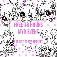 [CLOSED] Free 48 hours MYO EVENT ! by xXStarryPuffyDreamXx