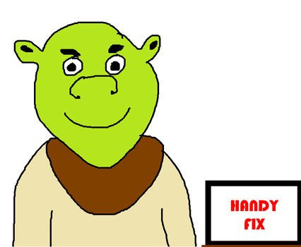 Shrek With Handy Fix to Fix His Tools by MikeEddyAdmirer89