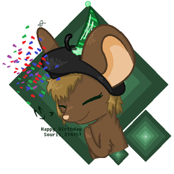 Birthday gift for Souris 31415 by The-Sinner-inside