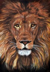 Drawing - King of the animals by Ennete
