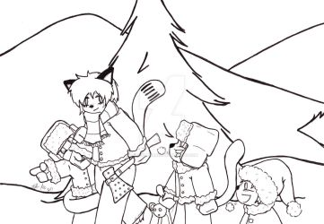 Christmas 2017 Panel Lineart Part 1 by Catboy-Trades