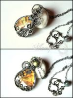 Labradorite Pendant Necklace by amorfia