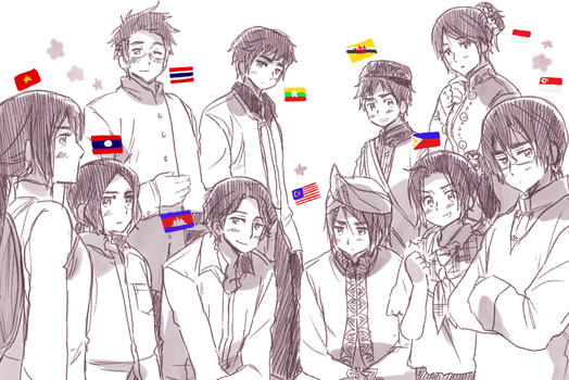 ASEAN 10 by Cioccolatodorima
