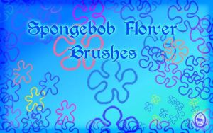 Spongebob Flowers Brushes by Sylvani
