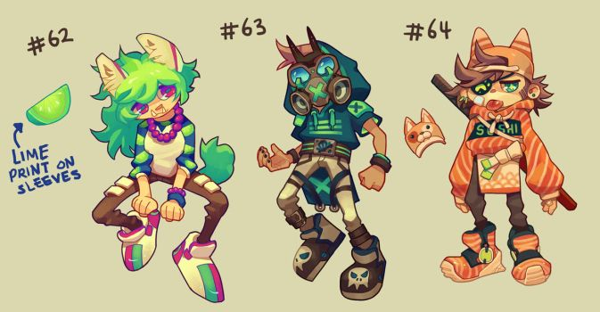 [closed] Adoptables 62-64 [AUCTION] by HJeojeo