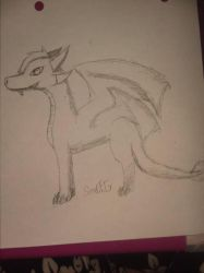 Me as a dragon (this is a redraw of thederpfluffer by soulfnafgamer