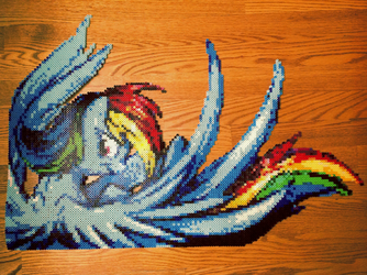 {Perler} Rainbow Dash Has Awesome Wings by OddishCrafts