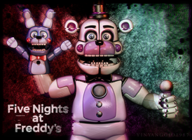 C4D|FNAFSL|Poster|Funtime Freddy by YinyangGio1987