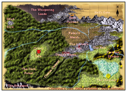 Cybertron's Core RPG Map by DarkXenith