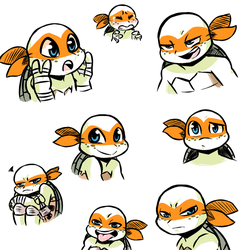 Practice Mikeys by InkyTurtle