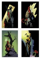 Coloring Mike Mignola by HectorRubilar
