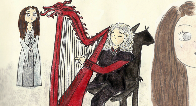 Rhaegar playing the harp by nanabarbare