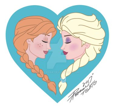Elsa and Anna\ Wind Beneath My Wings by DivineROAR
