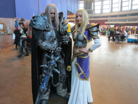 Arthas and Jaina at Comic Con Saint Petersburg by Aoki-Lifestream