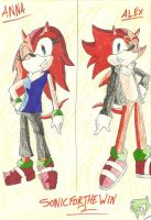 Gift For SonicForTheWin2: Anna and Alex by manicgirl155