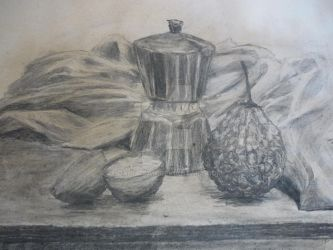 Lesson 4 - Another still life in coal by Dania-san