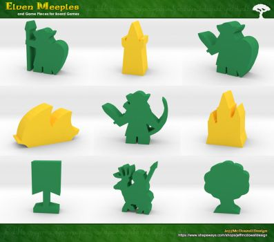 Elven Meeples by jeffmcdowalldesign