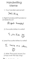 Handwriting Meme XD by Yasiku