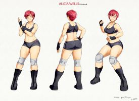Alicia Wells Character Sheet by YomiTrooper