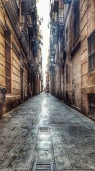 streets of barcelona by Hucklemary