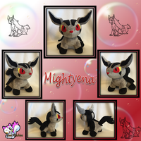 Minky Mightyena Plushie Sold by Ami-Plushies