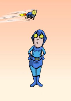 Blue Beetle Snoopie by carriehowarth