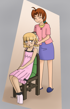 Mother-'Daughter' Bonding Time by UsaRitsu
