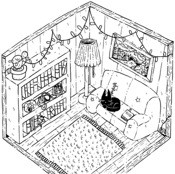Cozy room by Ritter-draws