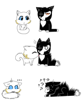 Meowletta and DelKitty by Ipku