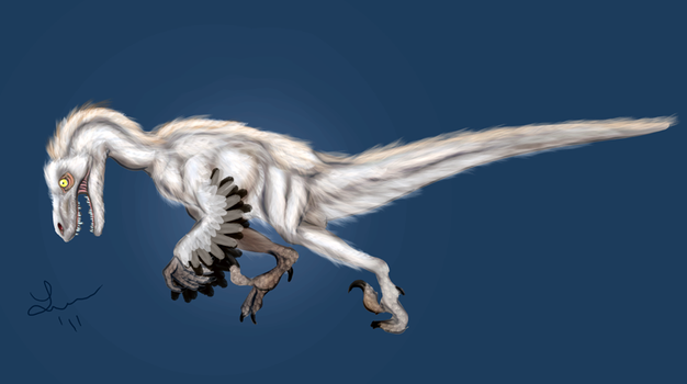 Snowy Raptor by Cheddarness8