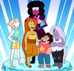 The Crystal Gems- And Topaz! by LeesiGalaxy