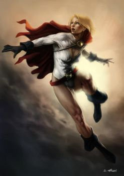Power Girl - DC comix (Color version) by Liarath