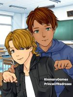 At School: Kevin and Oscar by TheEyeShield