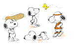 Snoopy Sketches by Gameaddict1234
