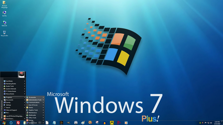 Windows 7 on Spanky - Plus! Edition by slowdog294