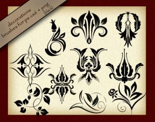 Decorations Brushes by roula33
