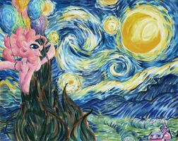 Commission: Pinkie's Starry Night by Muffyn-Man