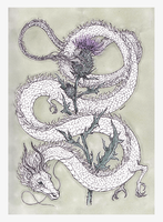 thistles and dragons - inktober [day 21] by menuli