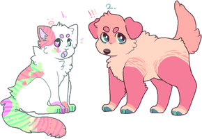 pixel adopts!! catto and puppo (open) by SoIar