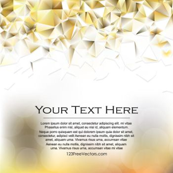White Orange Geometric Polygon Background Free by 123freevectors