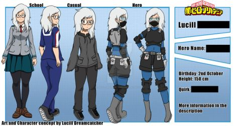 BNHA Character sheet [censored] 2019 by Lucill-dreamcatcher