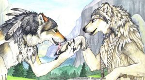 Ailah and Mahican by Goldenwolf