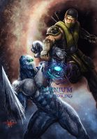 Mortal Instinct: Glacius vs Scorpion by KNIGHTPREDATOR